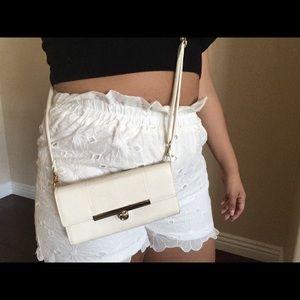Off white clutch/shoulder bag